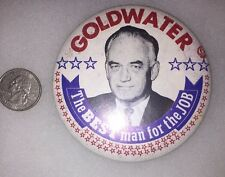 1964 Barry Goldwater BEST MAN FOR THE JOB Campaign Button