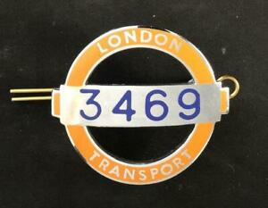LONDON TRANSPORT 3469 BUS ENAMEL CAP BADGE