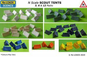 SCOUT TENTS, N Scale N Gauge, Model Railway Diorama Scenery