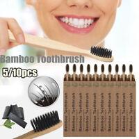 Type écologique Brosse à dents Cheveux fibreux doux Brosse à dents en bambou