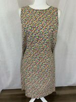 Women's Liz Claiborne Sleeveless Floral Summer Dress Size 12 Petite
