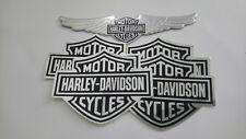 Harley Davidson Aufkleber 4 x BS +BS Wings Emblem Decal Set-selbstklebend -NEU-