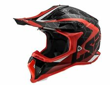 LS2 Subverter Straight MX Offroad Helmet Matte Red/Black