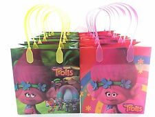 12PCS Dreamworks Trolls Authentic Goodie Party Favor Gift Birthday Loot Bags