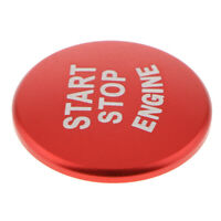 Car-styling Red Start Stop Engine Push Button Sticker Cover Fits For BMW