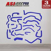 ASI SILICONE RADIATOR HOSE KITS PIPES FOR SILVIA S13 CA18DET CA18 BLUE