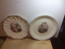 Gladstone + Mrs Gladstone – two ceramic Plates c 1880s-1890s
