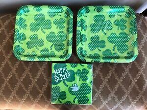 Hallmark HAPPY ST PAT'S  Plates & Napkins for 20 NEW