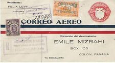 F9-6a Variety Panama Registered Dual Foreign Airmail First Flight Cover Ecuador