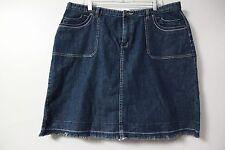 Christopher & Banks Denim Skirt Sz 18W Womens Straight Pencil Blue Jeans Stretch