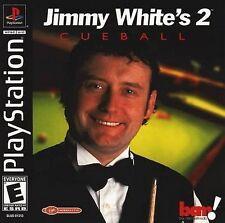 Jimmy White's 2 Cueball PlayStation Video Game Virgin Interactive Pool Billards