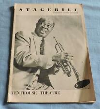1959 Louis Armstrong Chicago's Theatre Magazine Stagebill - C2715