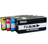 4 Pack NEW GEN HP 711XL Black & Color Ink Cartridge for HP DesignJet T120 T520