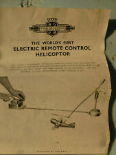nulli secundus first remote control helicopter instruction manual copy only