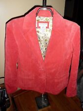 Women's Covington Rose Suede/Leather Jacket 10/12 Good Condition