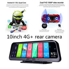 Car Recorder W/Cam Dual Lens 4G WiFi GPS 10 IN DVR Dash Cam Video Android 8.1