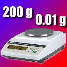 200g/0,01g Präzisionswaage Laborwaage Digital-waage JJA