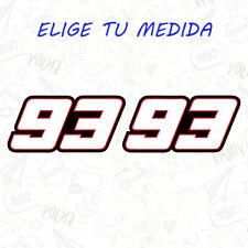 2x PEGATINA MARC MARQUEZ  NUMERO 93 MM93 MOTOGP VINILO STICKER DECAL BLANCO GP