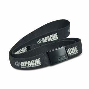 "Apache Horizon Black Work Belt Workwear Work Trouserl Buckle One SIze, Up to 46"""