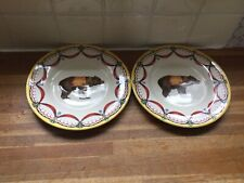 More details for royal stafford circus bear desert plates x2 - brand new.