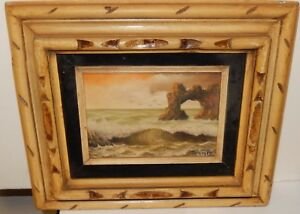 PINA SMALL ORIGINAL OIL ON CANVAS SEASCAPE PAINTING