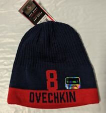 Washington Capitals Knit Beanie Toque Winter Hat Skull Cap Ovechkin 8 Reversible
