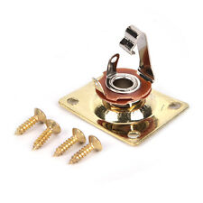 Gold Square Style New Guitar Jack Plate , Output Socket Chrome Rectangle w1A