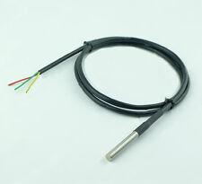 2x DS18B20 100cm Waterproof Digital Thermal stainless steel Probe or Sensor uk20