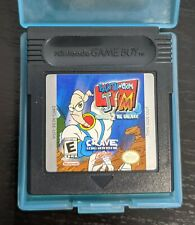Earthworm Jim Menace 2 The Galaxy Gameboy Color Game Cartridge & Case Vg Works