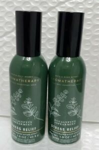 Bath and Body Works 2 Pack Eucalyptus & Spearmint Concentrated Room Spray. 1.5