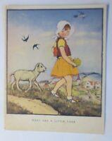 Kinder, Marry Had a Little Lamb, Mary hat ein kleines Lamm,   1945  ♥  (71644)