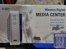 Western Digital Media Center HardDrive back Up & 8 - 1 Card Reader 160 GB