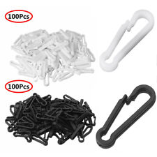 100Pcs Snap Clips Hooks Mini Carabiner Buckle Paracord Backpack Straps Bag 28mm