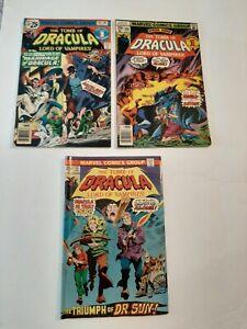 TOMB OF DRACULA #40,46 +64 marvel comics