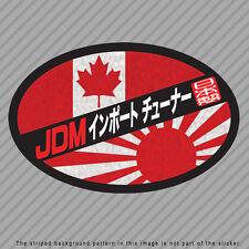 JDM Import Tuner Decal Sticker JAPAN / CANADA Flag Rising Sun Kanji P046_02
