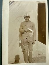 New listing Original Ww1 Photo Postcard African American soldier with gun