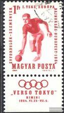 Ungarn 2041A mit Zierfeld (kompl.Ausg.) gestempelt 1964 EM im Kegeln