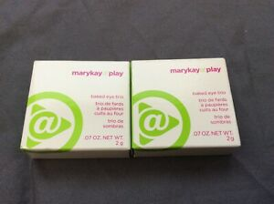 """New Lot of 2 Mary Kay At Play Baked Eye Trio """"Electric Spring"""" & """"Earth Bound"""""""