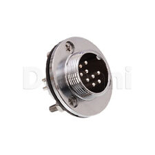 10101510127 Circular Chasis Connector 9 Pin Male Receptacle Silver Round Mount