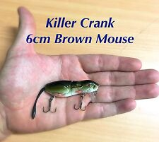 6cm Killer Crank Brown Mouse Surface Bass/Cod Fishing Lure
