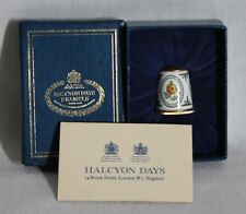 Rare! Halcyon Days Bilston & Battersea Enamel Yellow Roses Thimble New In Box