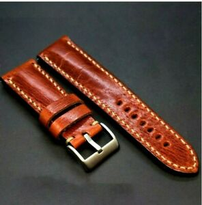fit Panerai Leather watch strap handmade,Vintage Band 24 mm