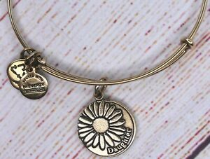 Alex and Ani Because I Love You Daughter Charm Bangle Gold Bracelet 2015