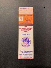 1974 NLCS GAME 1 FULL TICKET STUB PITTSBURGH PIRATES LOS ANGELES DODGERS NM ORAN