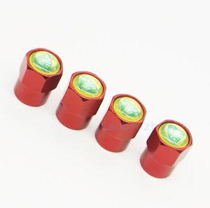 4x Red Generic Car Accessories Wheel Cover Tire Valve Stem Caps Logo for Lotus