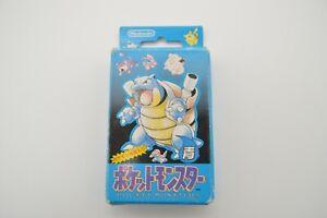 Pokemon Playing Cards Poker Deck (Blastoise / Blue) Used1996 Nintendo