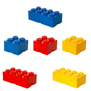 LEGO Aufbewahrungsstein, Storage Brick, 4 und 8 Noppen, stapelbar