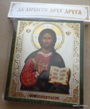 Russian  icon Christ the Teacher 4.5 X 3.5 INCHES