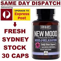 ONNIT New Mood 30 caps 5-HTP L-Tryptophan JRE Alpha Brain Stress Relaxation Aid!