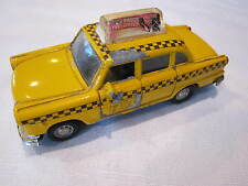 VINTAGE YELLOW NEW YORK CITY NYC DIECAST JUL TAXI CAB - PULL BACK